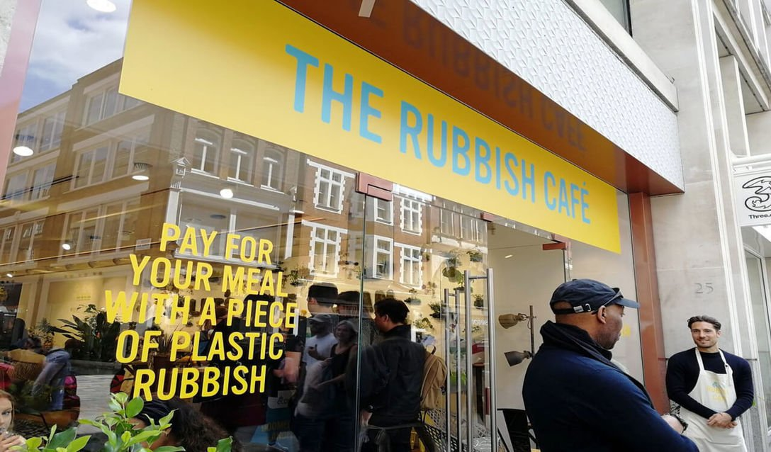 , Pop-up café uses plastic waste as payment | Springwise, The Circular Economy, The Circular Economy