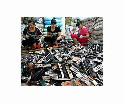 , Cell phone 'Tower of Babel' highlights China e-waste problem (phones are replaced every year or two… 4 kilo toner cartridges are replaced EVERY MONTH!!!), The Circular Economy, The Circular Economy