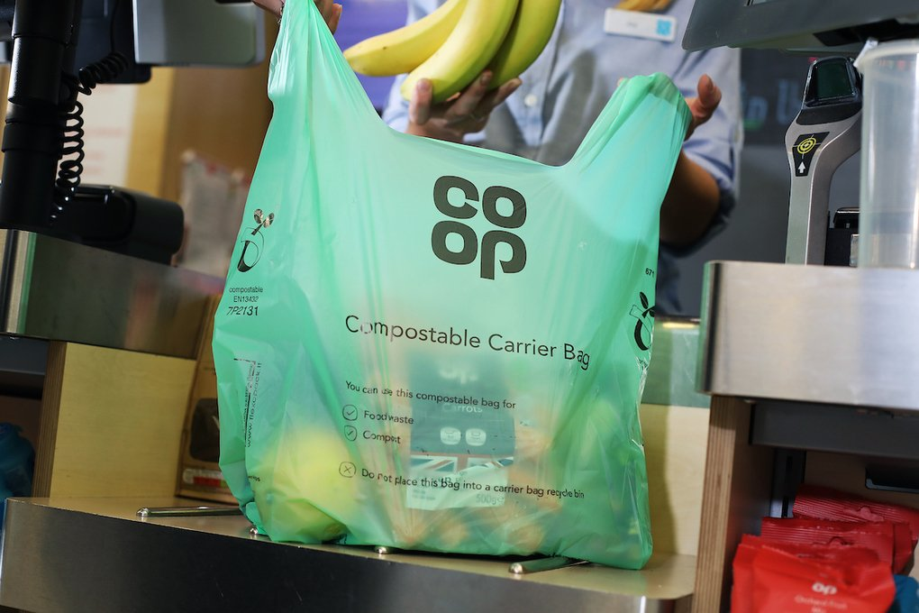 , Shoppers can bag compostable carriers at Co-op as part of move to ditch single-use plastic, The Circular Economy, The Circular Economy