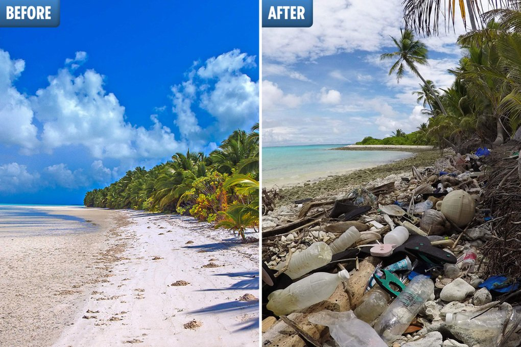 , Heartbreaking pics show stunning tropical islands in Australia suffocated by 238 tonnes of discarded single-use plastic, The Circular Economy, The Circular Economy