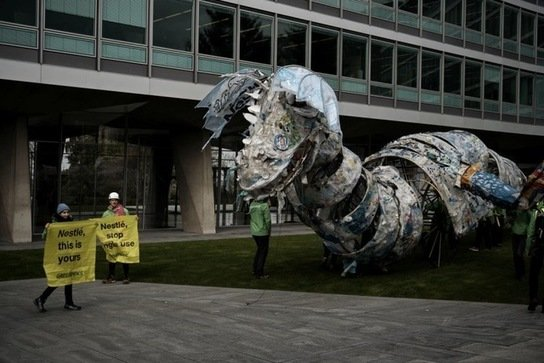 , Greenpeace Africa Ships Plastic 'Monster' to Nestlé Factory as Activists Call on Firm to End Reliance on Single-Use Plastics, The Circular Economy, The Circular Economy