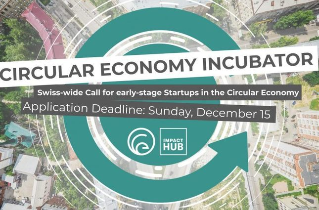 , Swiss Call for early-stage Startups in the Circular Economy, December 15th deadline, The Circular Economy