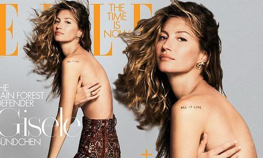 , Gisele Bundchen poses topless for Elle's Sustainability Issue, The Circular Economy, The Circular Economy