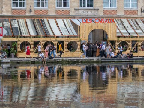 , Terrasse des Canaux, a temporary space built with circular economy, The Circular Economy