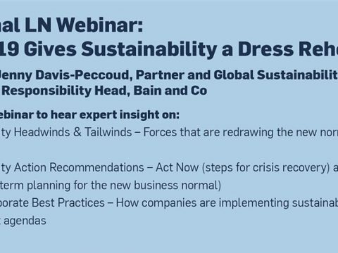 , COVID-19 Gives Sustainability a Dress Rehearsal Tickets, Tue, May 19, 2020 at 3:00 PM, The Circular Economy, The Circular Economy