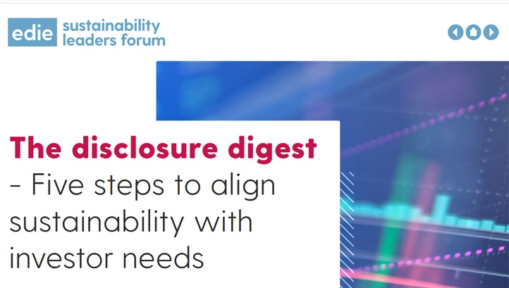 , The Disclosure Digest: edie launches top tips on aligning sustainability with investor needs, The Circular Economy, The Circular Economy