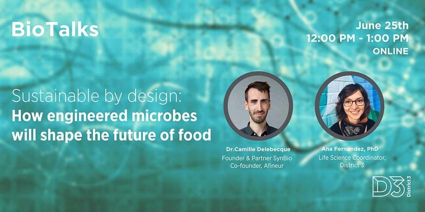 , Sustainable by design: How engineered microbes can shape the future of food Tickets, Thu, 25 Jun 2020 at 12:00 PM, The Circular Economy, The Circular Economy