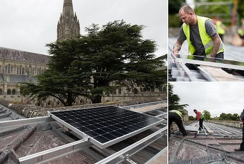, Salisbury Cathedral is fitted with 93 solar panels on its roof, The Circular Economy