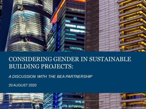 , Considering Gender in Sustainable Building Projects: A Discussion with the BEA Partnership, The Circular Economy