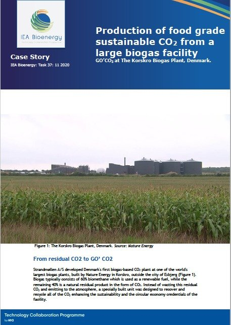 , New Publication – Case story: Production of food grade sustainable CO2 from a large biogas facility (Denmark) | Bioenergy, The Circular Economy