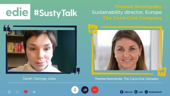 , #SustyTalk: Coca-Cola's Therese Noorlander talks supply chain engagement on climate and plastics, The Circular Economy